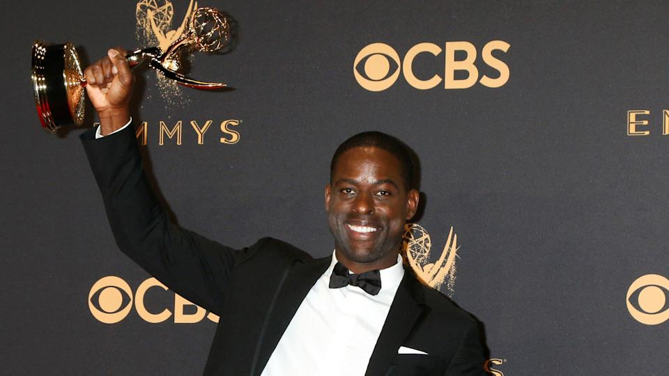 """<p>""""This Is Us"""" has brought Sterling K. Brown to new levels of fame — and fortune. After the first two seasons of the primetime drama were a huge ratings success, Brown — along with his co-stars Milo Ventimiglia, Mandy Moore, Chrissy Metz and Justin Hartley — renegotiated their salaries for a $250,000 per episode payday, The Hollywood Reporter reported. That amounts to $4.5 million per season.</p> <p><a href=""""https://www.gobankingrates.com/net-worth/celebrities/sterling-k-brown-net-worth/?utm_campaign=1047087&utm_source=yahoo.com&utm_content=40"""" rel=""""nofollow noopener"""" target=""""_blank"""" data-ylk=""""slk:Click through to find out how much Brown is worth."""" class=""""link rapid-noclick-resp"""">Click through to find out how much Brown is worth.</a></p> <p><em><strong>Read: <a href=""""https://www.gobankingrates.com/net-worth/celebrities/highest-grossing-actors-all-time/?utm_campaign=1047087&utm_source=yahoo.com&utm_content=41"""" rel=""""nofollow noopener"""" target=""""_blank"""" data-ylk=""""slk:15 Highest-Grossing Actors of All Time"""" class=""""link rapid-noclick-resp"""">15 Highest-Grossing Actors of All Time</a></strong></em></p> <p><small>Image Credits: Kathy Hutchins / Shutterstock.com</small></p>"""