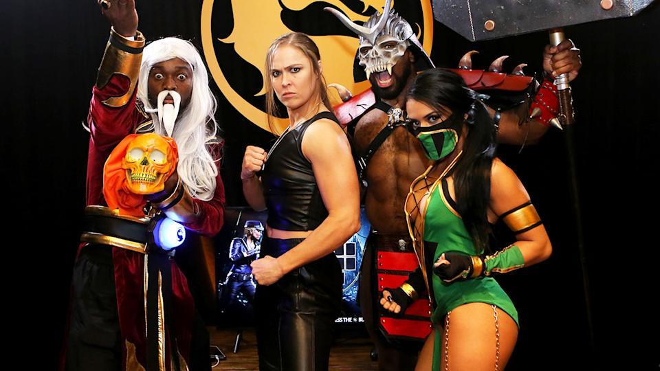 Zelina Vega, pictured here at 'Mortal Kombat 11: The Reveal' in 2019.