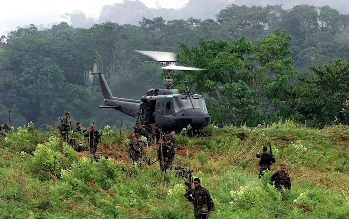 The Colombian Army has battled the insurgents for decades - REUTERS/Eduardo Munoz