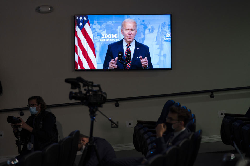 President Joe Biden speaks about COVID-19 vaccinations at the White House, Wednesday, April 21, 2021, in Washington. Even before the coronavirus surfaced, training guides by the Centers for Disease Control and Prevention noted the difficulty of communicating in a public health crisis, when fear and uncertainty are running high. Yet how leaders communicate can be key to winning public cooperation. Or undermining it. (AP Photo/Evan Vucci)