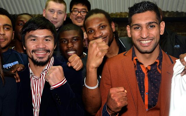 Amir Khan and Manny Pacquiao have never fought before, despite coming close - PA