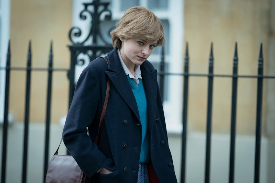 Emma in character as Princess Diana (Photo: Des Willie/Netflix)
