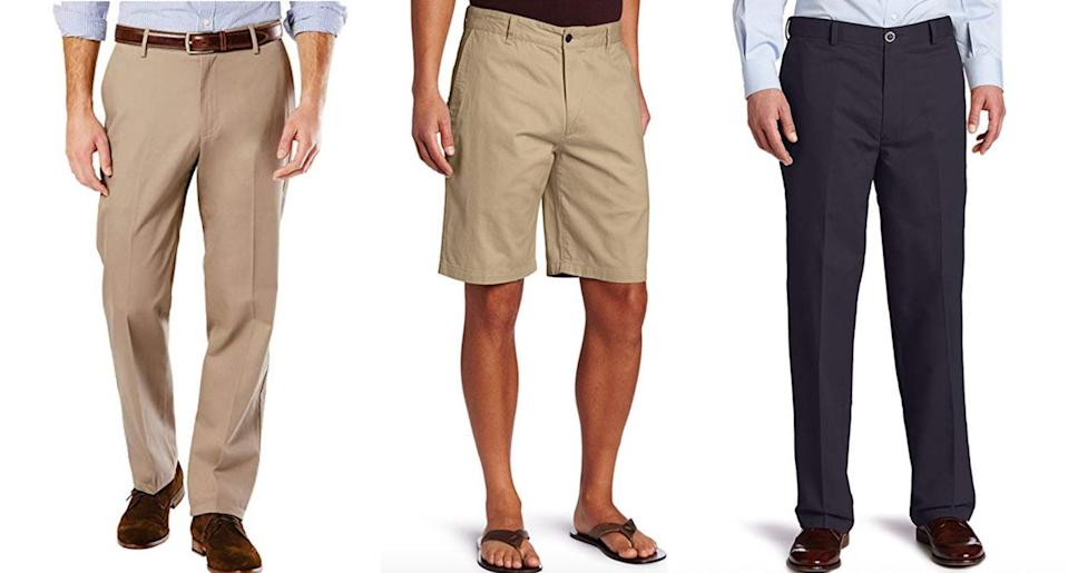 For one day only, Amazon shoppers can save up to 50 percent off Dockers men's apparel and accessories. (Photos: Amazon)