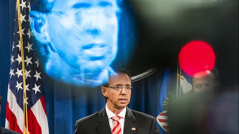 US Deputy Attorney General Rod Rosenstein has announced that 12 Russian spies have been indicted
