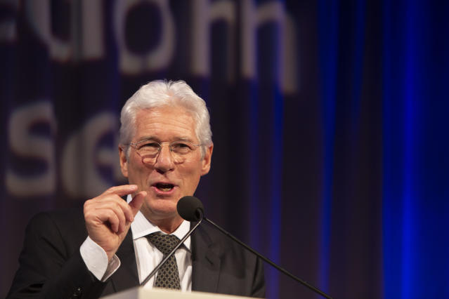 Richard Gere speaks at the Freedom House 2018 Annual Awards Dinner in May 2018. (Photo: Tasos Katopodis/Getty Images for Freedom House)