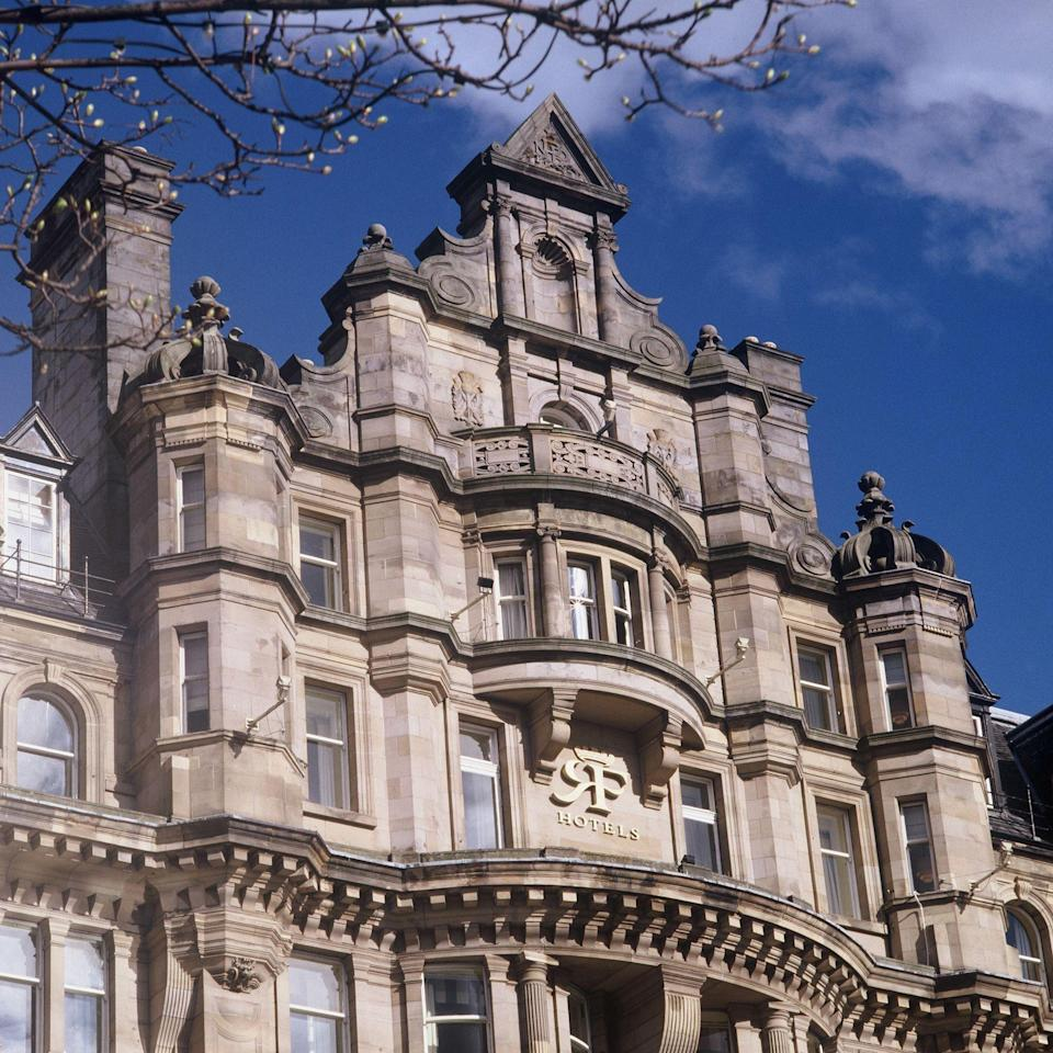 """<p><strong>Where to Stay:</strong> The <a href=""""https://www.roccofortehotels.com/hotels-and-resorts/the-balmoral-hotel/"""" rel=""""nofollow noopener"""" target=""""_blank"""" data-ylk=""""slk:Balmoral Edinburgh"""" class=""""link rapid-noclick-resp"""">Balmoral Edinburgh</a> in Edinburgh is a vision in Victorian architecture. Just a 13-minute walk from the Edinburgh castle, the hotel makes an effort to represent Scottish culture — the doormen all wear tartan kilts! At roughly £150 (if booked well in advance), a night at the Balmoral is pricier than most, but the optimal location and luxury is worth it.</p><p><strong>Insider Tip:</strong> Taste the finest of Scottish ales and whiskeys at <a href=""""http://www.the-doric.com/"""" rel=""""nofollow noopener"""" target=""""_blank"""" data-ylk=""""slk:The Doric"""" class=""""link rapid-noclick-resp"""">The Doric</a>, Edinburgh's oldest gastropub. It's been serving brews since the 17th century and features live folk music on Fridays and Saturdays.</p><span class=""""copyright"""">Photo: Courtesy of the Balmoral Edinburgh. </span>"""
