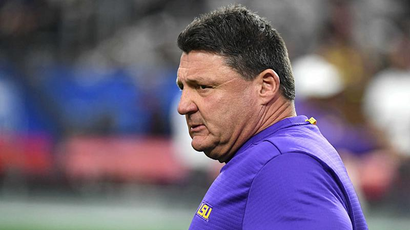 LSU coach Ed Orgeron denies quote attributed to him in Derrius Guice rape report