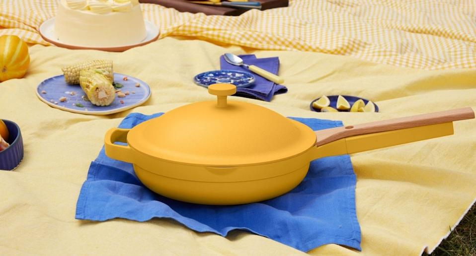 The Always Pan is now available in the perfect summer shade, zest. (Image via Our Place)