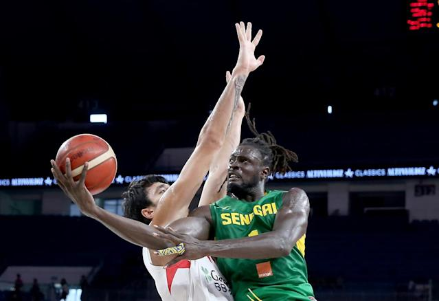 """<span class=""""element-image__caption"""">Senegal, drawn into the group of death, won 10 of 12 games in African qualifying behind former New York Knicks forward Maurice Ndour.</span> <span class=""""element-image__credit"""">Photograph: Anadolu Agency/Anadolu Agency via Getty Images</span>"""