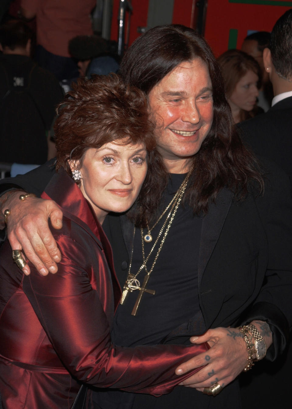 (Original Caption) Ozzy Osborne and his wife Sharon. (Photo by Frank Trapper/Corbis via Getty Images)