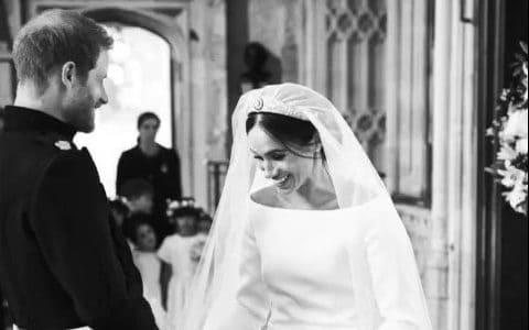 The Duke and Duchess of Sussex on their wedding day - Chris Allerton