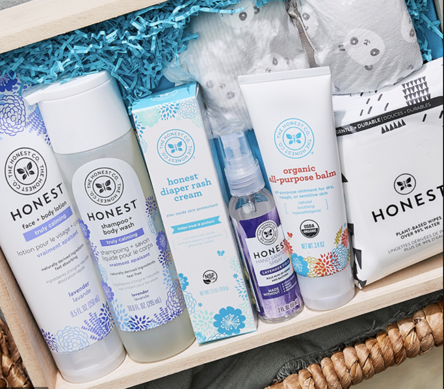 Honest Co. sells eco-friendly baby products, skincare, cosmetics and cleaning supplies.