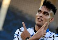 Inter Milan's Lautaro Martinez scored his fourth league goal this season at Atalanta