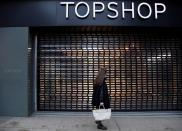 FILE PHOTO: Closed branch of Topshop seen, after the British online fashion retailer ASOS said it has bought the brand amongst others from the collapsed Arcadia group, London, Britain