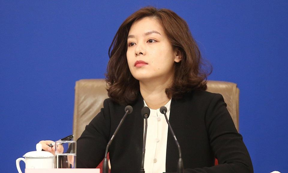 Chinese translator Zhang Jing during the summit. Photo: Handout
