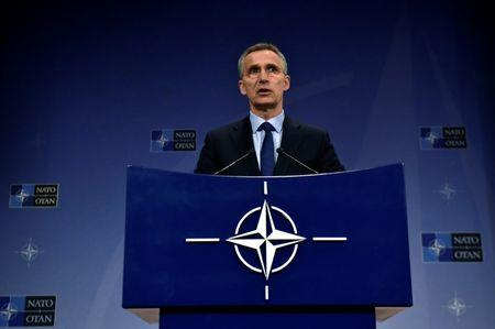 NATO Sec Gen Stoltenberg holds a news conference in Brussels