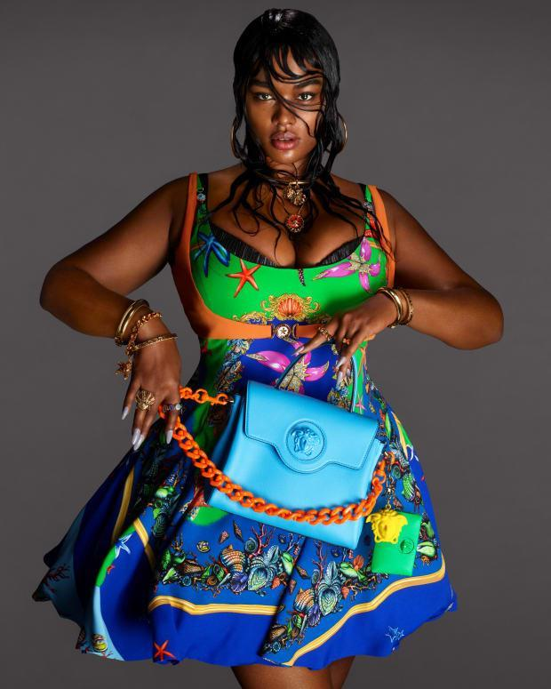 <p>Precious Lee in Versace's Spring 2021 campaign. Photo: Mert and Marcus/Courtesy of Versace</p>