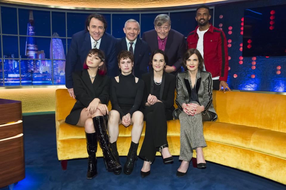 . Jonathan Ross and Stephen Fry, Michelle Dockery, ElizabethMcGovern, Martin Freeman, Craig David, Charli XCX, Christine and the Queens.  EMBARGOED UNTIL 00.01 FRIDAY 13th SEPTEMBER 2019.