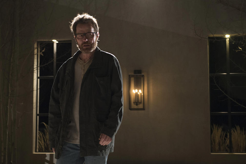 Bryan Cranston as Walter White in <em>Breaking Bad</em>, which celebrates its 10th anniversary. (Photo: Ursula Coyote/AMC)