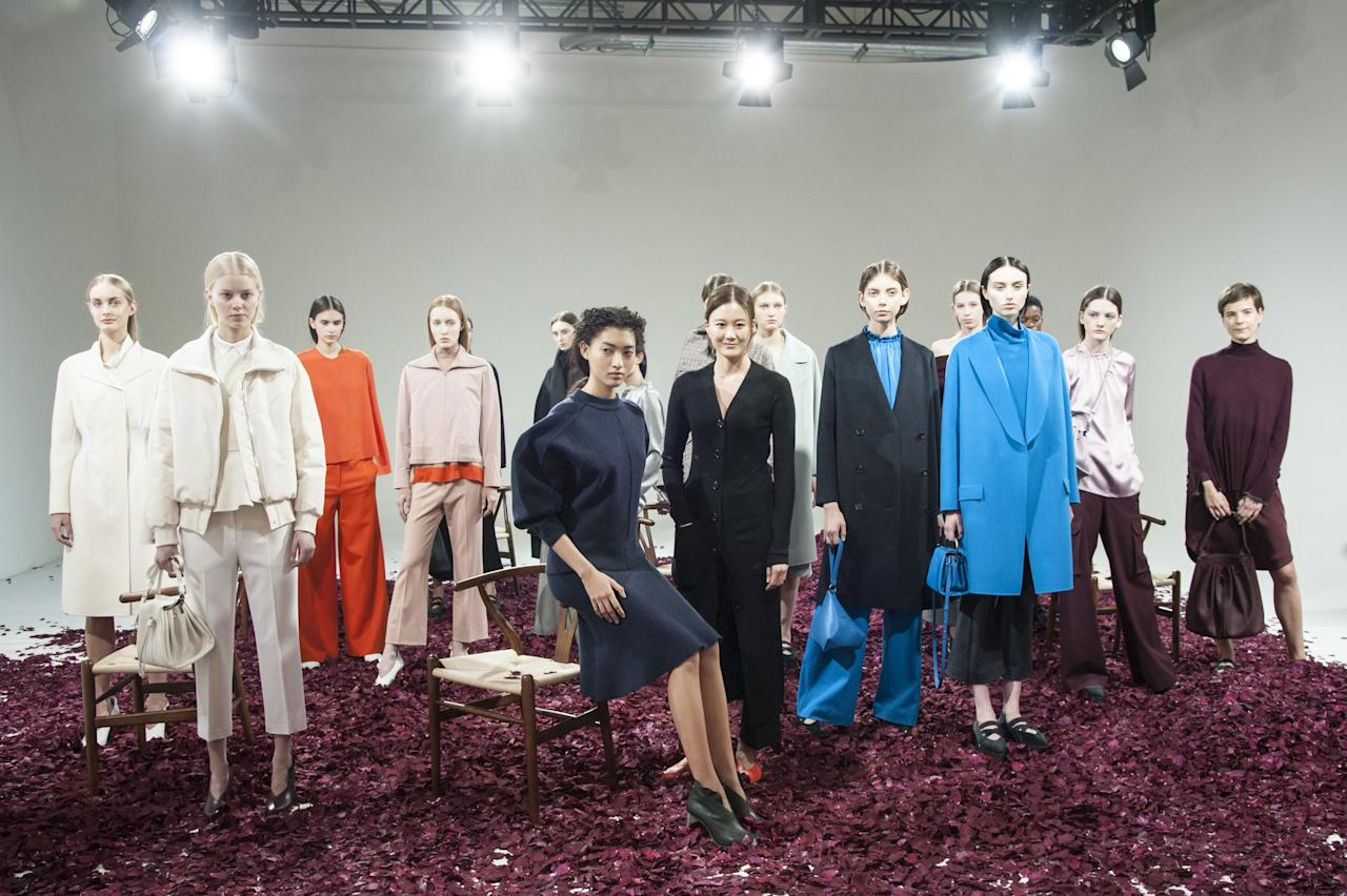 """<p><b>Kuho</b></p><p>Kuho's aesthetic is similar to that of Tibi and J.Crew—wearable basics along with some quirkier, trend-driven pieces. The brand may be new to the global market, but it's well-established in its home country—with over 66 stores, it generates roughly $90 million dollar in business in Korea. Headed by designer Hyunjung Kim, Kuho is known for its range of sporty yet ladylike tailoring. Thanks to its recent expansion to the States, you can now shop the brand at select Nordstrom stores and <a rel=""""nofollow"""" href=""""http://www.lanecrawford.com/brand/2800008/kuho/women?mbid=synd_yahoostyle&query=kuho"""">lanecrawford.com</a>.</p>"""