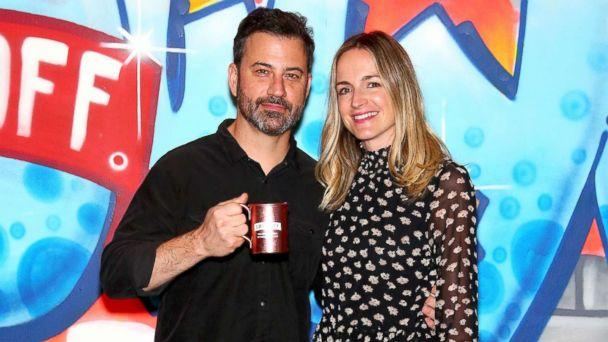 PHOTO: Jimmy Kimmel and wife Molly McNearney attend the Jimmy Kimmel Live! Welcome to Brooklyn kick-off, Oct. 14, 2017, in New York City. (Paul Zimmerman/Getty Images)