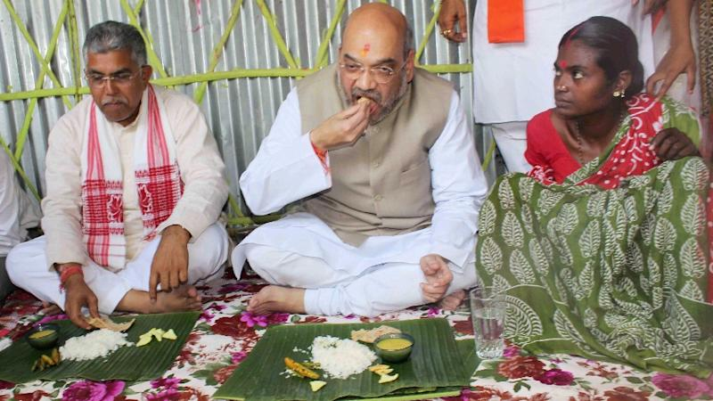 Tribal Family That Hosted Lunch for Shah Joins TMC, BJP Cries Foul