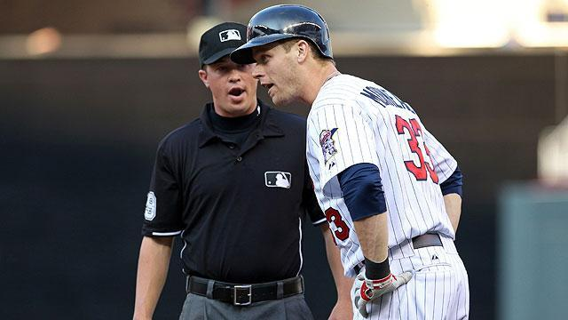 Justin Morneau called out by Cory Blaser