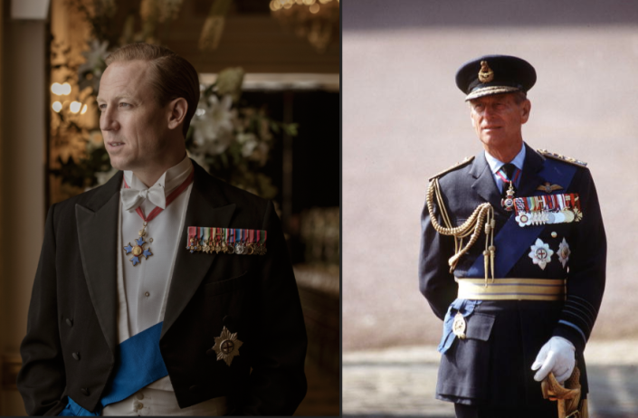 """<p>When the show moved on to a new era, English actor Tobias Menzies took over the role of Prince Philip. After news of the casting broke, Tobias said in a <a href=""""https://twitter.com/TheCrownNetflix/status/981954715763257345"""" rel=""""nofollow noopener"""" target=""""_blank"""" data-ylk=""""slk:statement"""" class=""""link rapid-noclick-resp"""">statement</a>, """"I'm thrilled to be joining the new cast of <em>The Crown</em> and to be working with Olivia Colman again. I look forward to becoming 'liege man of life and limb.'""""</p>"""