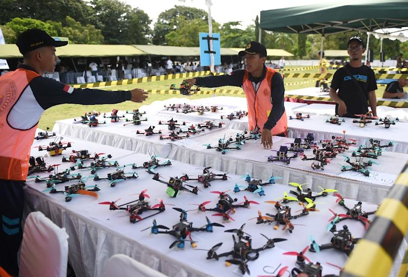 Drone racing is 'one of the fastest growing air sports in the world' (AFP Photo/SONNY TUMBELAKA)