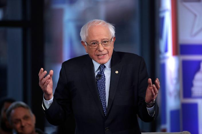 Bernie Sanders speaks during a Fox News town hall on April 15. (Photo: Matt Rourke/AP)
