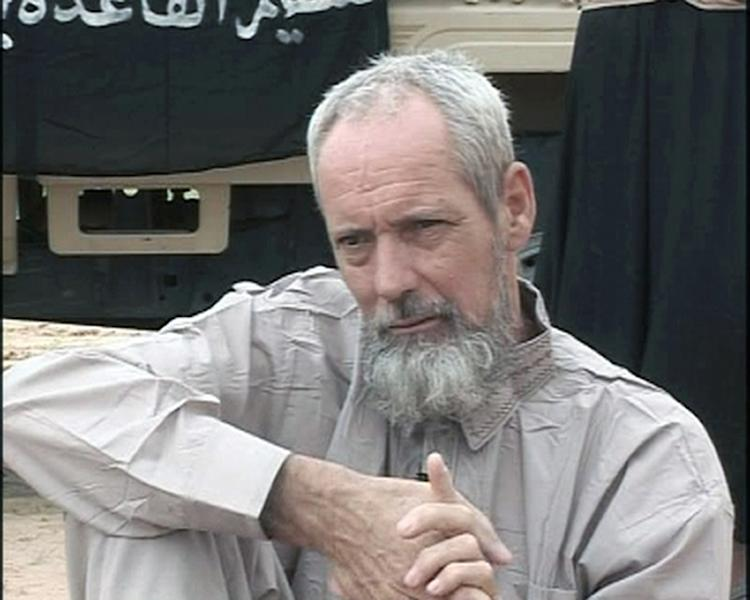 A 2012 image of Dutch national Sjaak Rijke, who was taken captive in northern Mali by the Qaida-linked Al-Din movement (AFP Photo/-)