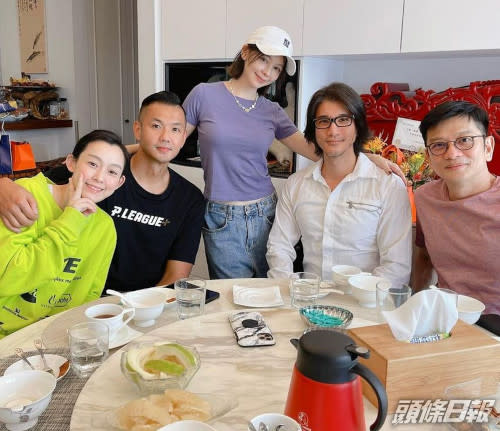 Leehom had a gathering with some friends