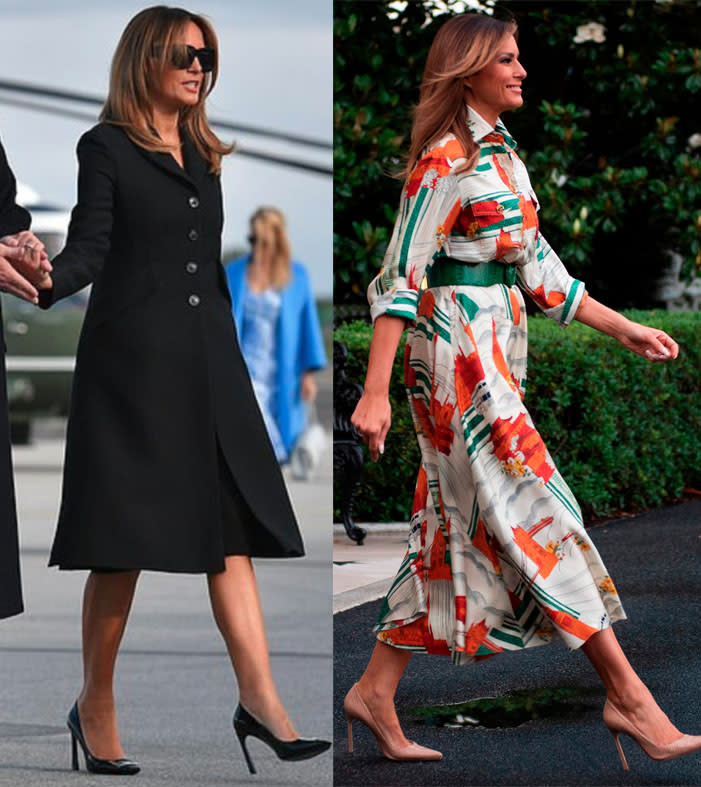Some observers believe the Melania clad in black sunglasses is really a body double. Photo: Getty Images