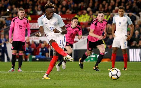 <span>Tammy Abraham makes it 2-0 from the penalty spot</span>