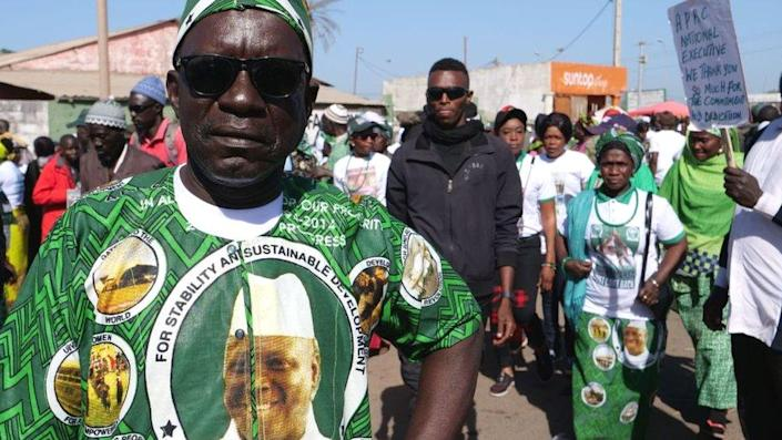 Supporters of Yahya Jammeh in 2020