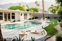 """Reconnect with friends in this three-bedroom home in central <a href=""""https://www.cntraveler.com/story/what-to-do-in-palm-springs?mbid=synd_yahoo_rss"""" rel=""""nofollow noopener"""" target=""""_blank"""" data-ylk=""""slk:Palm Springs"""" class=""""link rapid-noclick-resp"""">Palm Springs</a>, whether you want to spend your days playing pool or in the pool. (Or, better yet, both.) In fact, you have tons of options beyond those two: lounge on the patio, take a dip in the hot tub, play cornhole or ping pong, grill in the outdoor kitchenette, plan movie nights for the mid-century modern living room, and—as a last resort—work remotely from the office. If you want to leave the property, you're just a short drive from nearby museums and less than an hour from <a href=""""https://www.cntraveler.com/story/guide-to-joshua-tree?mbid=synd_yahoo_rss"""" rel=""""nofollow noopener"""" target=""""_blank"""" data-ylk=""""slk:Joshua Tree National Park."""" class=""""link rapid-noclick-resp"""">Joshua Tree National Park.</a> <em>(From 65,000 points per night)</em> $381, Marriott. <a href=""""https://homes-and-villas.marriott.com/en/properties/78076104-palm-springs-palm-springs-modern-home-with-pool-and-canyon-view"""" rel=""""nofollow noopener"""" target=""""_blank"""" data-ylk=""""slk:Get it now!"""" class=""""link rapid-noclick-resp"""">Get it now!</a>"""