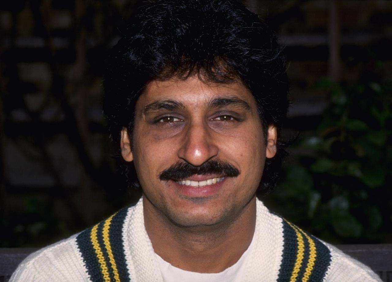 1992:  Portrait of Rameez Raja of Pakistan.