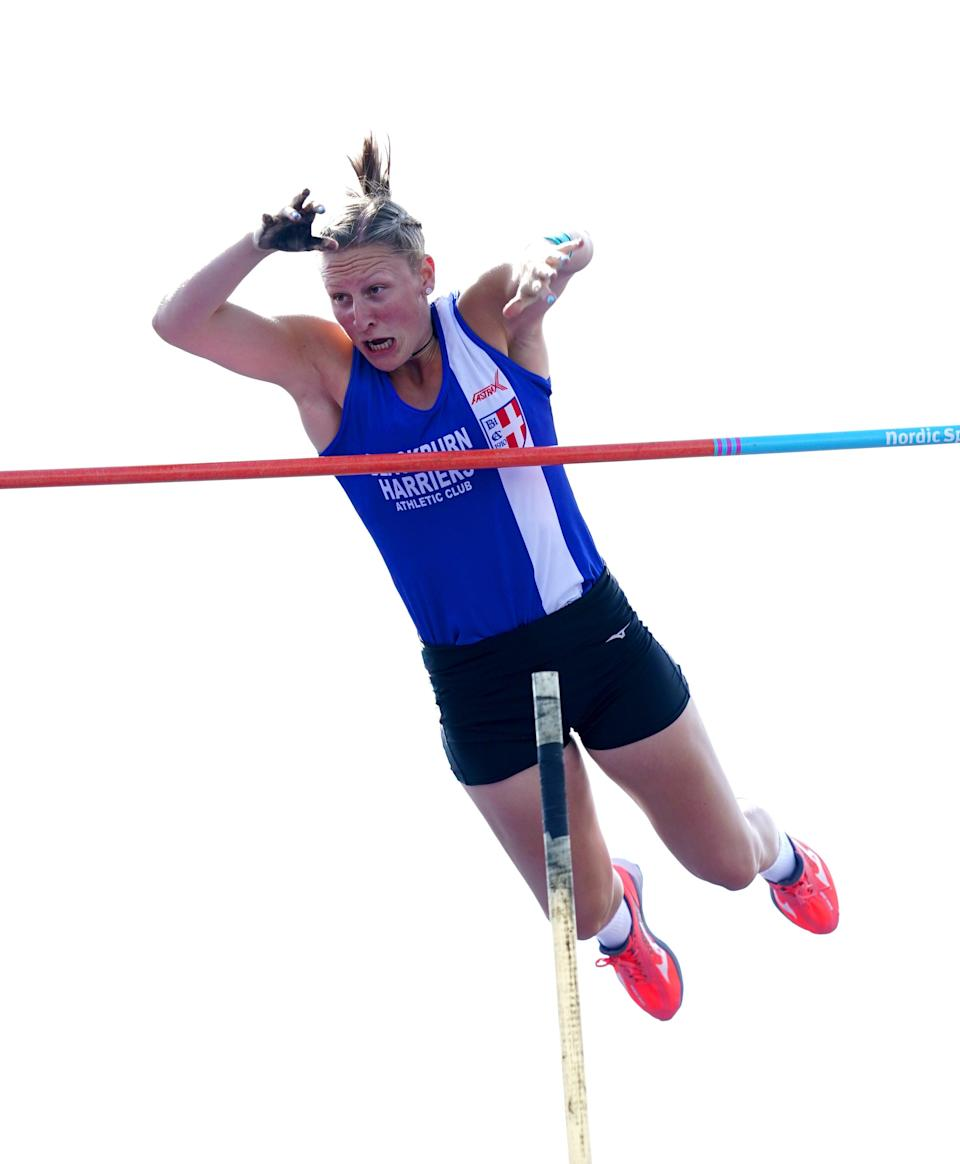 Holly Bradshaw set a new British record of 4.90m in June. (Martin Rickett/PA) (PA Wire)