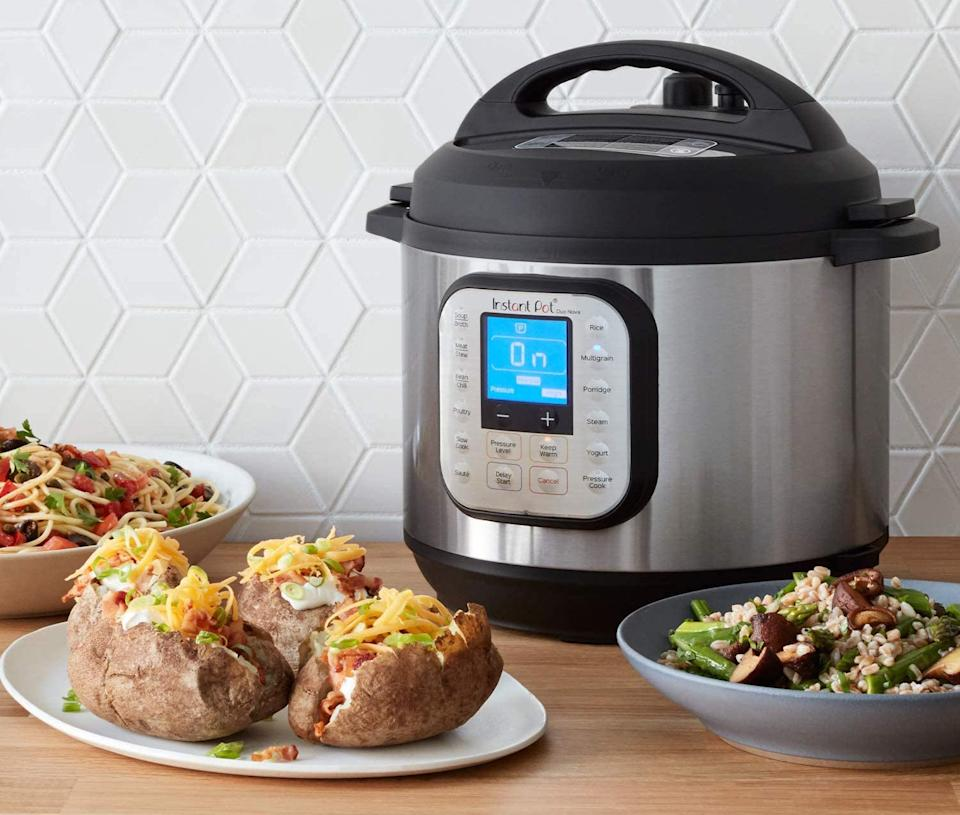 The Instant Pot Duo Nova 7-in-1 Electric Pressure Cooker is on sale now for Cyber Monday. Image via Amazon.
