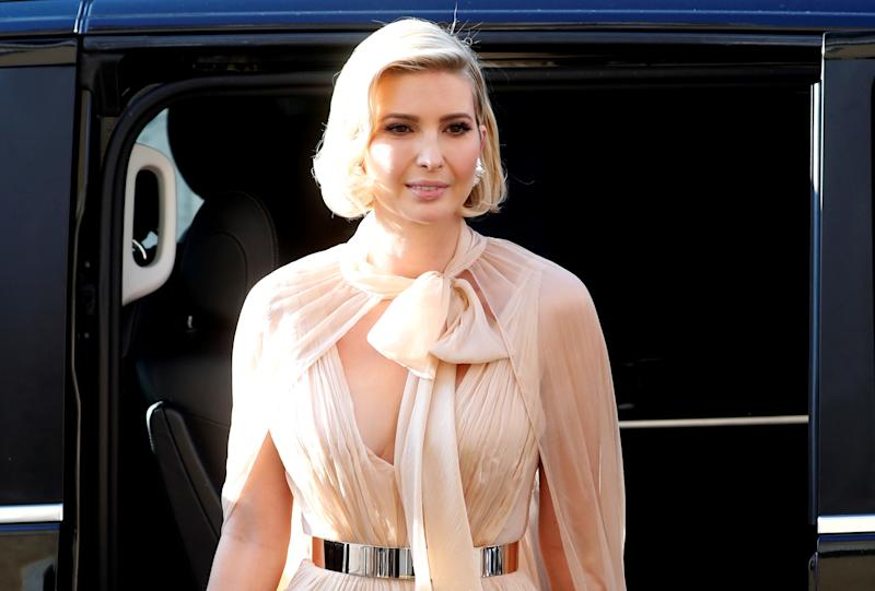 Ivanka Trump arrives to attend the wedding of fashion designer Misha Nonoo at Villa Aurelia in Rome, Italy, September 20, 2019. REUTERS/Remo Casilli