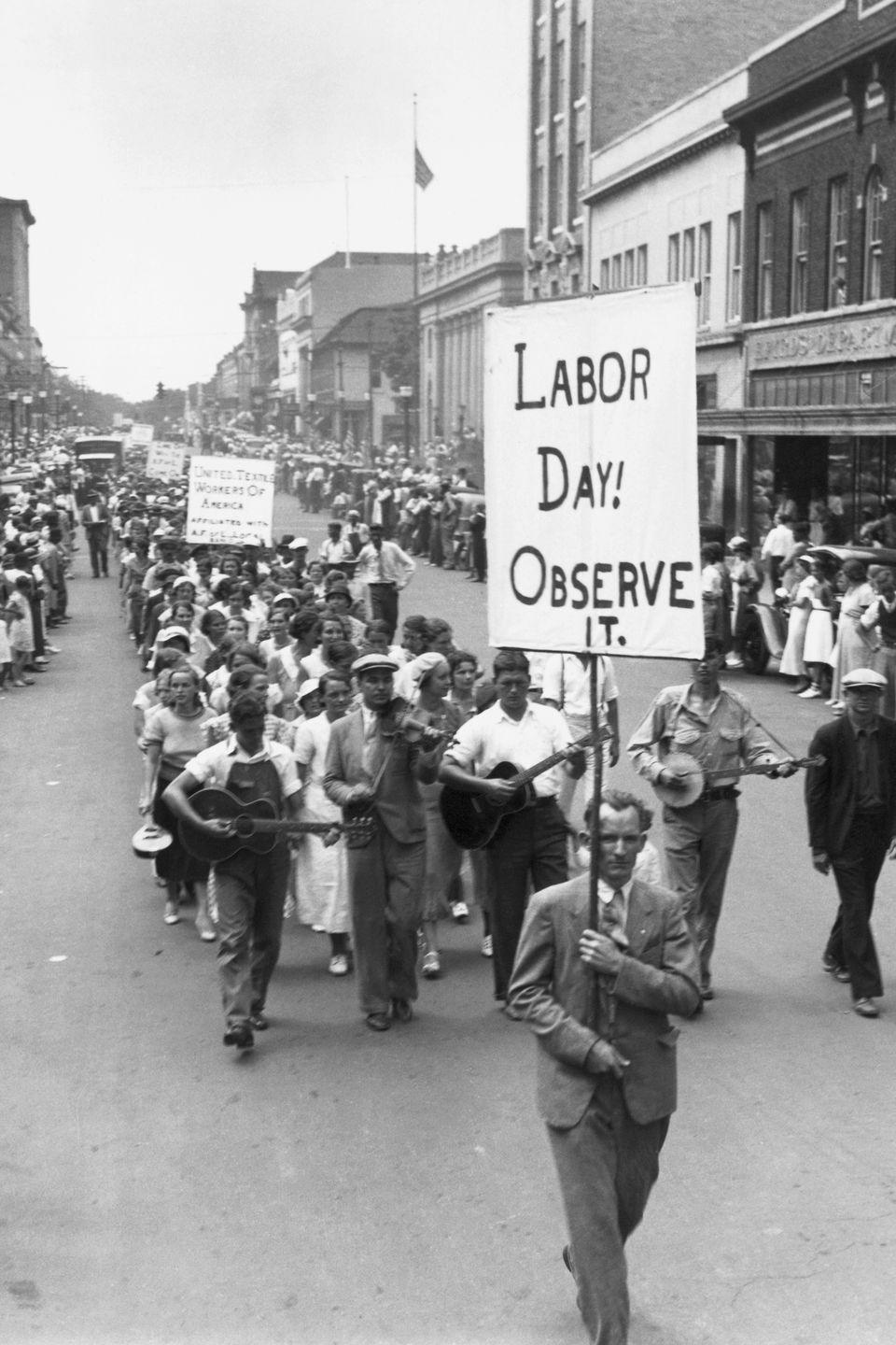 """<p>It was a parade planned by the Central Labor Union in New York, according to the <a href=""""https://www.dol.gov/general/laborday/history"""" rel=""""nofollow noopener"""" target=""""_blank"""" data-ylk=""""slk:U.S. Department of Labor"""" class=""""link rapid-noclick-resp"""">U.S. Department of Labor</a>. Oregon, however, was the first state to pass a law making Labor Day a holiday in 1887.</p><p><strong>RELATED: </strong><a href=""""https://www.goodhousekeeping.com/life/money/a28073241/best-labor-day-sales-2019/"""" rel=""""nofollow noopener"""" target=""""_blank"""" data-ylk=""""slk:The Best Labor Day Sales to Help You End Summer With a Bang"""" class=""""link rapid-noclick-resp"""">The Best Labor Day Sales to Help You End Summer With a Bang</a></p>"""