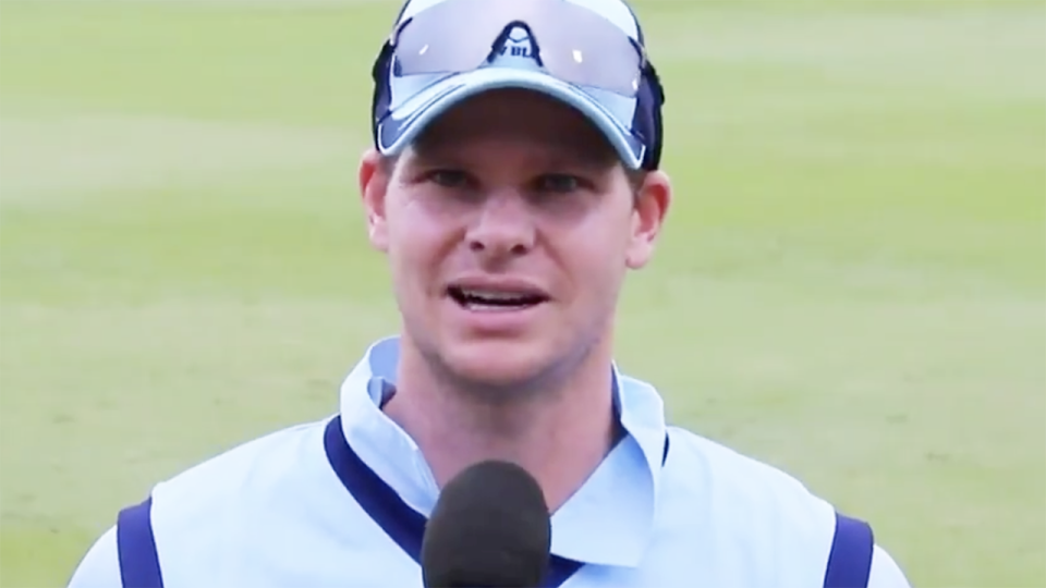 Cricket experts were left less than convinced by Steve Smith's response to Pat Cummins' first victory as NSW captain. Picture: ABC?Cricket Australia