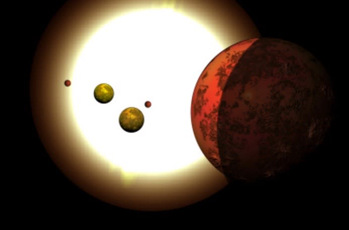Tightly Packed Alien System's Planets Align Every Month