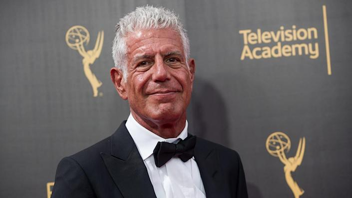 """The late star is the subject of a new book written by longtime assistant Laurie Woolever titled 'Bourdain: The Definitive Oral Biography.' <span class=""""copyright"""">Poto by Emma McIntyre/Getty Images</span>"""