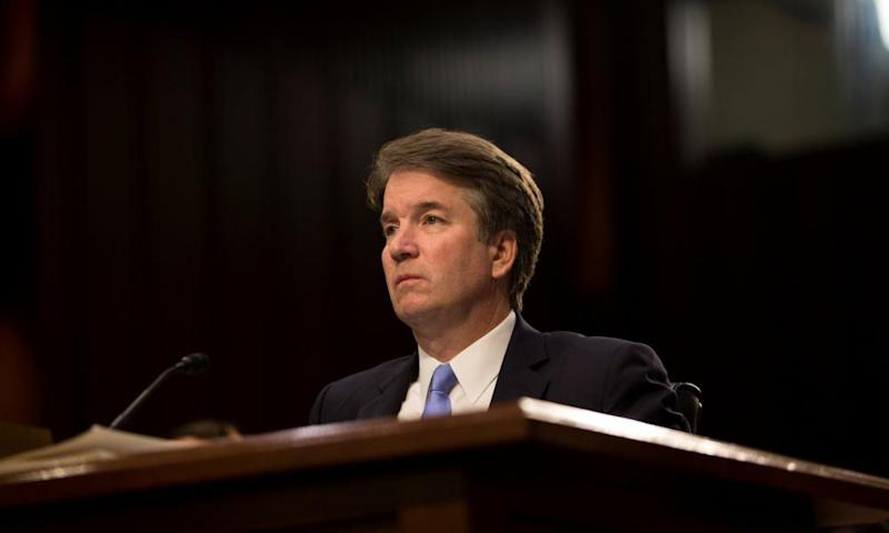 Supreme Court nominee Brett Kavanaugh testifies during the third day of his confirmation hearing before the Senate judiciary committee on Capitol Hill on 6 September.