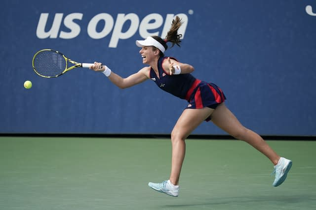 Konta was stretched to the limit by Cirstea