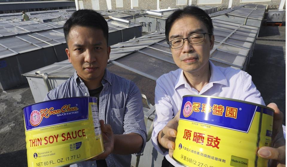 Daniel Chan (left) and manager Alan Tam of the Koon Chun Hing Lee Soy & Sauce Factory. Photo: Dickson Lee