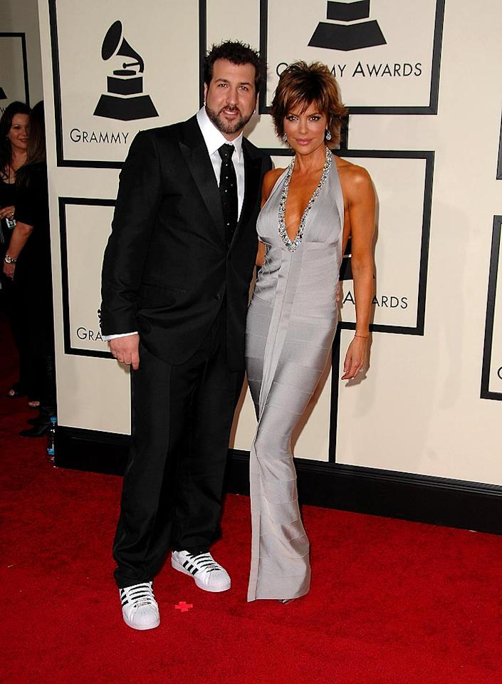 "TV Guide Network's red carpet commentators Joey Fatone (N' Sync) and Lisa Rinna (""Melrose Place"") hung out before the A-listers arrived. Steve Granitz/<a href=""http://www.wireimage.com"" target=""new"">WireImage.com</a> - February 10, 2008"