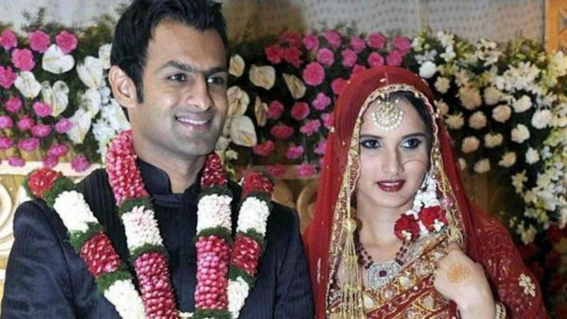 Image result for indian pakistan couple uae sania