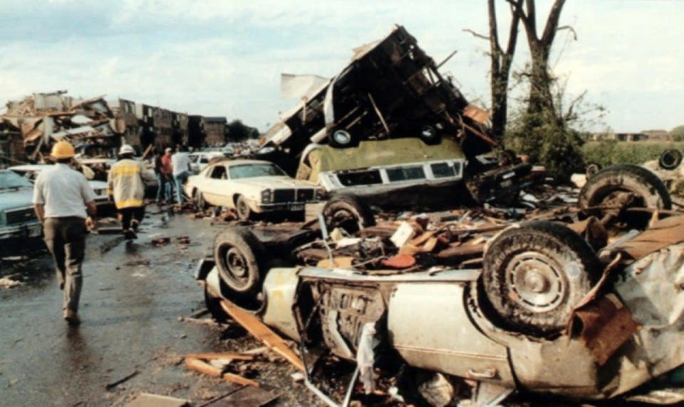The 1990 Plainfield tornado is the only F5 twister to hit the U.S. in August